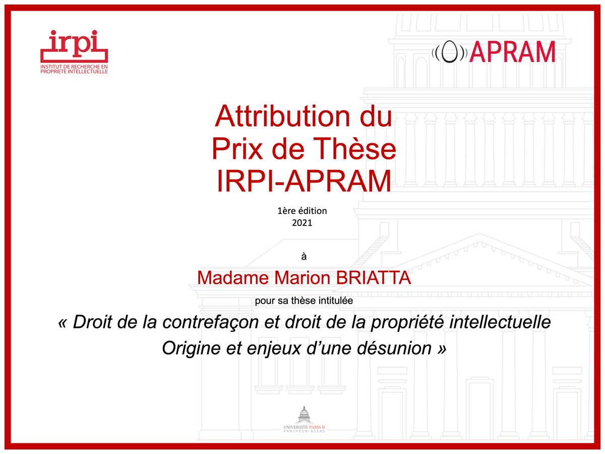 Thèse IRPI-APRAM
